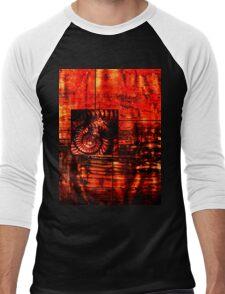 Evolution - Ammonite in Red  Men's Baseball ¾ T-Shirt