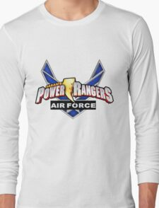 mighty mhorpin power rangers air force Long Sleeve T-Shirt