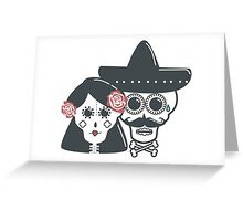 The skeleton wife and husband Greeting Card