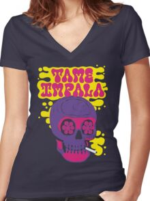 tame impala music Women's Fitted V-Neck T-Shirt