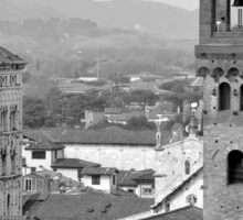 Lucca's rooftops and towers Sticker