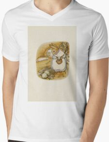 Vintage famous art - Beatrix Potter - Peter Rabbit, 1902 Mens V-Neck T-Shirt