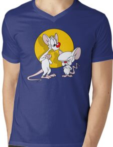Pinky And The Brain : Classic Mens V-Neck T-Shirt