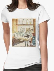 Vintage famous art - Beatrix Potter - Tale Of Ginger And Pickles, 1909 Womens Fitted T-Shirt