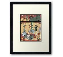 Vintage famous art - Benjamin Rabier - Animal Circus  Framed Print