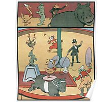 Vintage famous art - Benjamin Rabier - Animal Circus  Poster