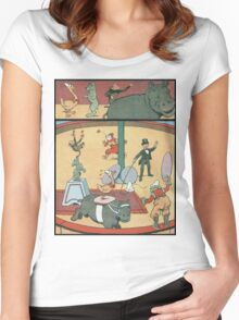 Vintage famous art - Benjamin Rabier - Animal Circus  Women's Fitted Scoop T-Shirt