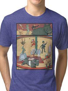 Vintage famous art - Benjamin Rabier - Animal Circus  Tri-blend T-Shirt