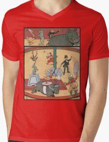 Vintage famous art - Benjamin Rabier - Animal Circus  Mens V-Neck T-Shirt
