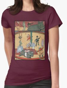 Vintage famous art - Benjamin Rabier - Animal Circus  Womens Fitted T-Shirt