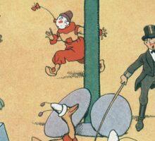 Vintage famous art - Benjamin Rabier - Animal Circus  Sticker