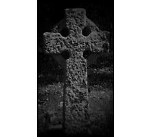 Gothic Celtic cross Photographic Print