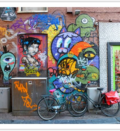 Amsterdam Street Art Sticker