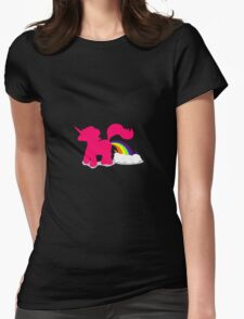 Pink unicorn Womens Fitted T-Shirt