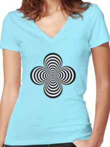 Cone x 4 Women's Fitted V-Neck T-Shirt