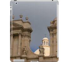 A Well Placed Ray of Sunshine - Noto Cathedral Saint Nicholas of Myra Against a Cloudy Sky iPad Case/Skin