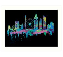 Inky London Skyline Art Print