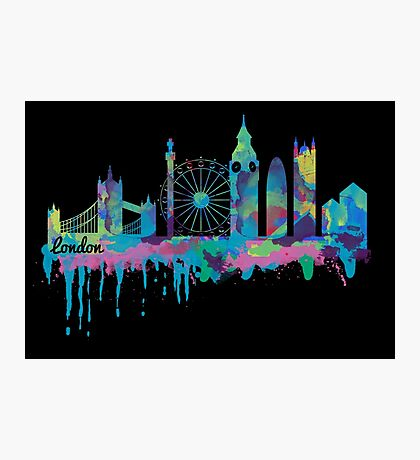 Inky London Skyline Photographic Print