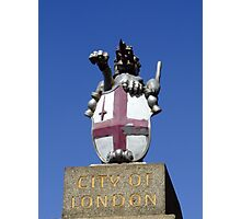 City of London, Coat of Arms, London, England Photographic Print