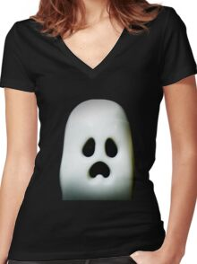 More Ghosts and stuff Women's Fitted V-Neck T-Shirt