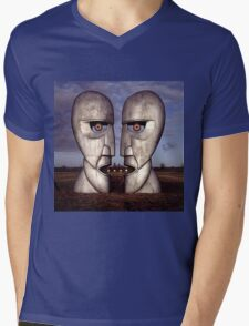 PINK FLOYD ARTWORK Mens V-Neck T-Shirt
