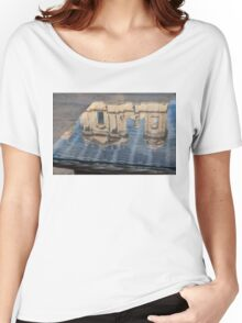 Reflecting on Noto Cathedral Saint Nicholas of Myra - Sicily, Italy Women's Relaxed Fit T-Shirt