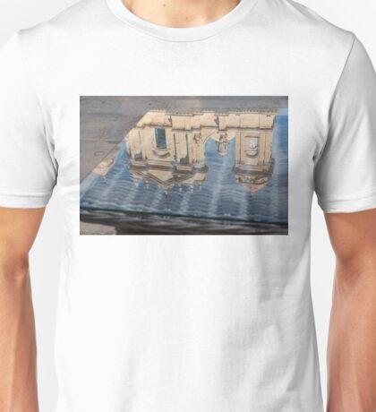 Reflecting on Noto Cathedral Saint Nicholas of Myra - Sicily, Italy Unisex T-Shirt