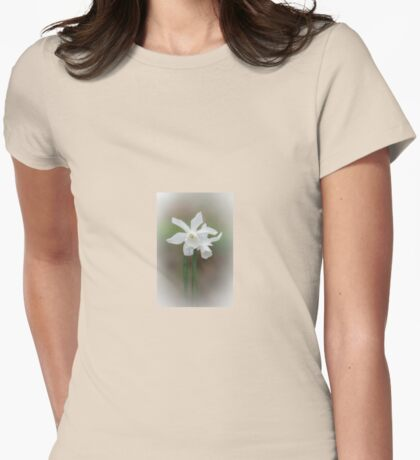 White Daffodil Womens Fitted T-Shirt