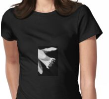 Daffodil in black and white Womens Fitted T-Shirt