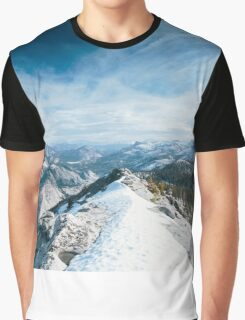 NATURE SNOW WALLPAPER MOUNTAIN Graphic T-Shirt