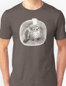 Sleeping Grey Owl In a Cylinder T-Shirt