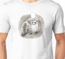Sleeping Grey Owl In a Cylinder Unisex T-Shirt