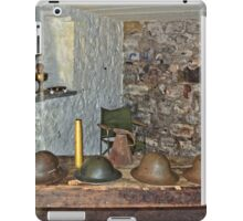 World War 2 helmets and equipment, seen in a British bunker iPad Case/Skin