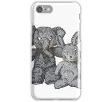 Ellie & Slightly Surprised Rabbit iPhone Case/Skin