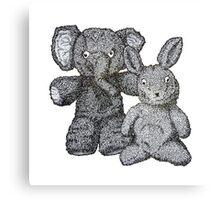 Ellie & Slightly Surprised Rabbit Canvas Print