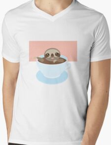 Sloth in a cup 1 Mens V-Neck T-Shirt