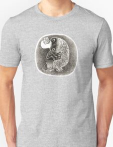 Lady Owl in a Retro Hat Unisex T-Shirt