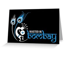 Wasted In Bombay - Blue Logo Promo Greeting Card