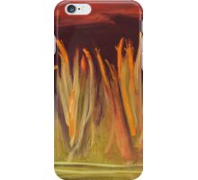 spiky grass red sky iPhone Case/Skin
