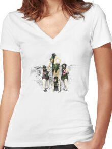 Mermaids in the 1930s Women's Fitted V-Neck T-Shirt