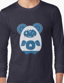 Stickers Animals cartoon style.  Long Sleeve T-Shirt