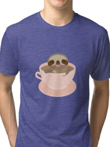 Sloth in a cup 3 Tri-blend T-Shirt
