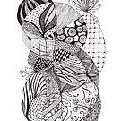 Drift tangle by Vickie Simons