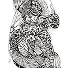 Flora tangle by Vickie Simons