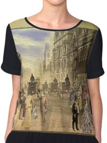 Victorian Picadilly Street Chiffon Top