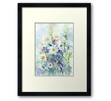 Watercolour daisies Framed Print