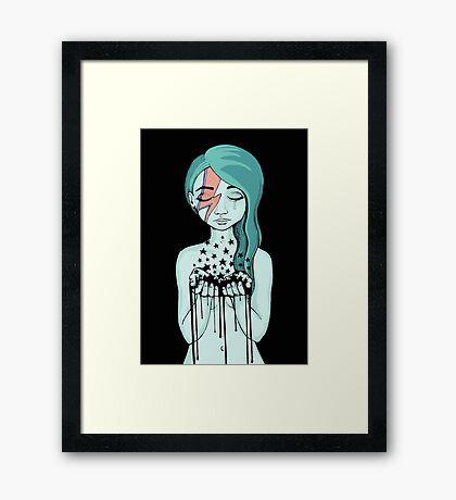 Black Stars Falling (David Bowie tribute) Framed Print