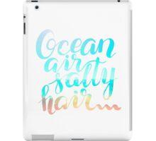 Surf lettering on a  defocus blurred summer background iPad Case/Skin