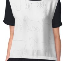 animal picture outline,vector illustration Chiffon Top