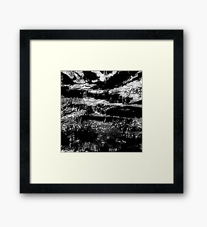 abstract black high contrast Framed Print